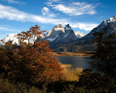 A different view of the horns in Torres del Paine