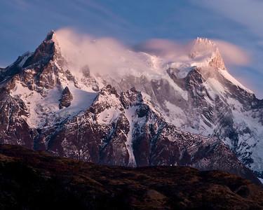 Piney Grande at sunrise Torres del Paine Chile