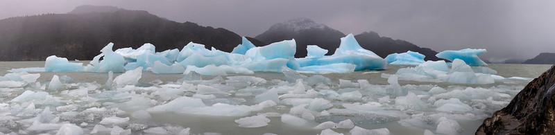 Icebergs on Lago Grey, Torres del Paine, Chile