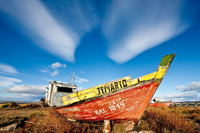 A fish(ing boat) out of water in Puerto Natales