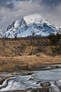 Rapids along the road in Torres del Paine