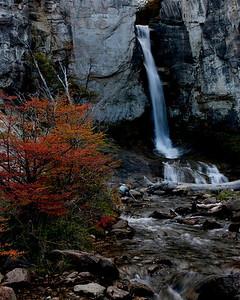Waterfall in Los Glaciers national park, El Chaten, Argentina