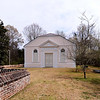 St. James Goose Creek<br /> <br /> Built 1713-1719 by early planters from Barbados, St. James Goose Creek is one of the earliest Georgian churches in the English colonies. The building is not only early, but generally recognized as one of the real architectural beauties in a category of small eighteenth century parish churches. St. James' Church is a small, compact, rectangular one-story structure with stucco covered brick walls, and a slate jerkinhead roof. The round arched windows of the church are protected by exterior wooden shutters and framed by plaster architraves adorned with cherub's heads. The corners of the building are marked by large quoins, and a small stucco cornice adorns the eaves line. The vestry was incorporated in 1778, and it is said that the presence of the royal coat of arms over the pulpit saved the church from destruction in 1779-1780 when British troops moved through South Carolina during the American Revolution. Services were discontinued during the latter part of the war, and the Church of England was disestablished. The revival of the Episcopal Church in South Carolina took place gradually from 1795-1817. Listed in the National Register April 15, 1970. Designated a National Historic Landmark April 15, 1970.