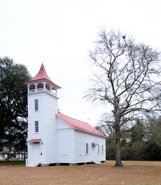 Pineville Historic District (PIneville Chapel)<br /> <br /> The Pineville Historic District illustrates Pineville's original role as a nineteenth century pineland village as well as its gradual transformation to agricultural land and to a year-round community in the late-nineteenth and early twentieth centuries. Berkeley County's wealthy planter class, wishing to avoid the fevers associated with their low lying plantations during the summer months, established inland settlements, particularly in areas wooded with pine trees, beginning in the late eighteenth century. The Pineville Historic District is composed of four principal buildings, three residential buildings and one Episcopal church, ranging in date from ca.1810 through 1925. In the mid to late nineteenth century, Pineville was a densely-settled village that included as many as one hundred buildings, including an academy, racetrack, library, churches, and residences. Much of the town was burned by Union troops at the close of the Civil War in April 1865. In the years following the war, much of the land that made up the village was converted for use as farmland. Since that time, Pineville has remained a small community of less than twenty structures surrounded by open farm and hunting lands. Listed in the National Register February 10, 1992.