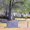 """Old White Meeting House Ruins and Cemetery<br /> <br /> Old White Meeting House was built ca. 1700, burned during the American Revolution in 1781, rebuilt in 1794, then reduced to ruins by the Charleston Earthquake of 1886. Constructed of brick and covered with stucco, it conformed to the typical """"meeting house"""" plan of the colonial period, featuring a square building with a pyramidal roof. The dimension of the Old White Meeting House as rebuilt in 1794 were 30'x30'. The extant ruins include portions of each corner-the largest approximately 9' high-and significant remnants of the foundation of walls, clearly outlining the historic form, plan, and size of the meeting house. The cemetery, which also contributes to the significance of the nominated property, surrounds the meeting house ruins and is laid out in a regular grid plan, with little discernible landscaping or other planned features other than an entrance gate and a few deciduous or evergreen trees shading particular family plots. Grave markers are primarily granite or marble tablets, obelisks, and table-top stones. The first marked graves in the cemetery date from the 1760s, and most burials date from the nineteenth century. Listed in the National Register February 8, 2005."""