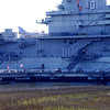 U.S.S. Yorktown<br /> <br /> The U.S.S. Yorktown (CV-10), the second of the Essex-class aircraft carriers to be built by the United States Navy, was constructed between 1941 and 1943 to Bureau of Ships specifications by the Newport News Shipbuilding and Dry Dock Company, Newport News, Virginia. The Yorktown was decommissioned in 1970, and in 1975 was moored in the Charleston Harbor, where it is part of the Patriots Point Naval and Maritime Museum. The ship served with distinction in the Second World War as a primary element in the United States' military campaign against Japan in the Pacific Theater of Operations. The Yorktown is important, not only as a surviving World War II aircraft carrier, but as one of the most important of these ships. The ship was named for an earlier aircraft carrier Yorktown (CV-5), which was sunk at the Battle of Midway in 1942. The new Yorktown initiated many technical improvements for the other two dozen Essex carriers, becoming a model for new carrier design. The Yorktown underwent numerous modifications and alterations during its years of military service in World War II, the Korean War, and the Vietnam War, but it is still expressive of the technology, design, and distinguishing characteristics of the World War II-era aircraft carrier. Listed in the National Register November 10, 1982; Designated a National Historic Landmark January 14, 1986.