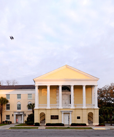 Georgetown County Historic District (County Courthouse)<br /> <br /> Third oldest city in South Carolina, Georgetown is significant historically, militarily, agriculturally and architecturally. Georgetown was laid out as a city in 1729. In 1735 Georgetown was conveyed to three trustees. A plan of the city was attached to the deed and was the first plan to be preserved. Included in the plan were 174.5 acres for the town and 100 acres for a commons. The town acreage was divided into blocks by five streets running at right angles to the river. Much physical evidence of the past remains. The oldest existing structure in Georgetown is a dwelling which dates from ca. 1737. There are approximately twenty-eight additional 18th century structures as well as eighteen buildings erected during the 19th century prior to the Civil War. The existing structures—homes, churches, public buildings—are of both historical and architectural significance and are situated on heavily shaded, wide streets. The architecture ranges from the simplicity of early colonial, or Georgian, to the elaborate rice plantation era, such as Classical Revival. Listed in the National Register October 14, 1971.