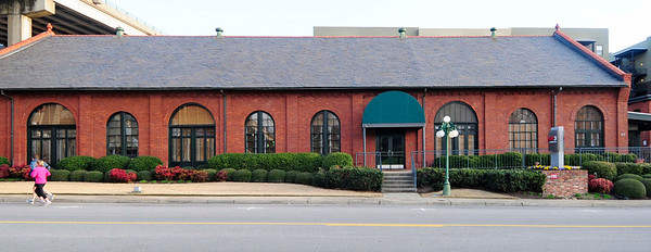 Greenville Gas and Electric Company<br /> <br /> (Duke Power Steam Plant) The two buildings (ca. 1890) of the Greenville Gas and Electric Light Company are significant to the city of Greenville as one of its earliest electrical plants. The larger building served as a coal-fueled, steam-powered electric generating plant. This one-story, rectangular brick building has round arched window and door openings. The second building is a two-story rectangular brick building originally used as offices for the power company. The window and door openings have segmental arches. The buildings were owned and operated by the Greenville Gas and Electric Light and Power Company. In 1910 the buildings were sold to the Southern Power Company which was rechartered in 1913 as Southern Public Utilities. Later the company evolved into Duke Power Company. The building is vernacular Victorian with Romanesque commercial structure elements. It is one of the few remaining Victorian structures in the downtown area. Listed in the National Register July 1, 1982.