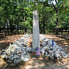 """Buford's Massacre Site<br /> <br /> (Buford's Battleground) On May 28, 1780, Colonel Abraham Buford, in command of a regiment of 350 Virginians, was overtaken by Colonel Banastre Tarleton of the British Army who commanded 700 cavalry and infantrymen under Lieutenant General Charles Lord Cornwallis. In the ensuing action 115 Americans were killed, 151 were wounded, and 53 were taken prisoner. There is still considerable debate over whether Tarleton's men shot and bayoneted Patriots while they were in the act of surrendering or after they had surrendered, or whether they were falsely accused of such atrocities by the Americans in an effort to inflame resistance to the British in the backcountry. After the battle, nearby settlers aided survivors and buried American soldiers in a long trench. The dying and badly wounded were carried several miles where they were cared for by, among others, Mrs. Andrew Jackson and her two sons Andrew and Robert. Two monuments now mark the Buford Battleground. A white monument ten feet tall, erected on June 2, 1860, marked the American gravesite. This marker became so scarred from chippings of souvenir hunters that a new monument was erected on May 1, 1955, bearing the same inscription. Buford's Massacre was one of the many vicious actions that characterized the Revolutionary War campaigns in the backcountry South. This particular battle became a symbol of British atrocities and Tarleton became known as """"Bloody Tarleton."""" Listed in the National Register February 15, 1990."""