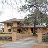 J. Davis Powell House<br /> <br /> The J. Davis Powell House, built in 1919-20, is architecturally significant as an intact and rare example of the Prairie Style in Columbia. The two-story home is set on a large, sloping lot within the Melrose Heights neighborhood, an early twentieth century residential development that is still characterized by small to medium-sized brick and frame Craftsman bungalows, Colonial Revival and Tudor Revival cottages. The Powell family, who developed and built the neighborhood, ordered plans for their home matching those that appeared in the March 1916 issue of Ladies Home Journal. The design of the house is believed to be by Floyd A. Dernier (1879-1934), a house designer in Los Angeles, California. J. Davis Powell contacted Mr. Dernier and paid a small fee for the detailed plans. Constructed with yellow brick, the house has an irregular plan, a broad, low-pitched, sheltering, asphalt shingle-covered hipped roof, cantilevered eaves, and sets of elongated, repeated windows on both floors. Though some of the family's choices of materials differ from the original plans and some additions and alterations have been made over the years, the house retains its Prairie Style features and integrity. Six additional resources contribute to the historic and architectural character of the property: a ca. 1920 garage with a ca. 1940 second story addition; a ca. 1920 pool house and ca. 1935 pool; four ca. 1920 cast stone classical columns - remnants of what originally was an extensive pergola system; a ca. 1920 goldfish pond or pool; and a ca. 1922 outdoor fireplace. Listed in the National Register September 25, 2012.