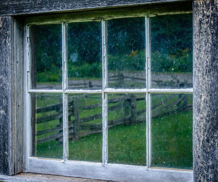 Blue Ridge Parkway - Puckett's Cabin Fence Reflection-0246