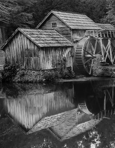 Blue Ridge Parkway - Mabry Mill  Reflection-0163