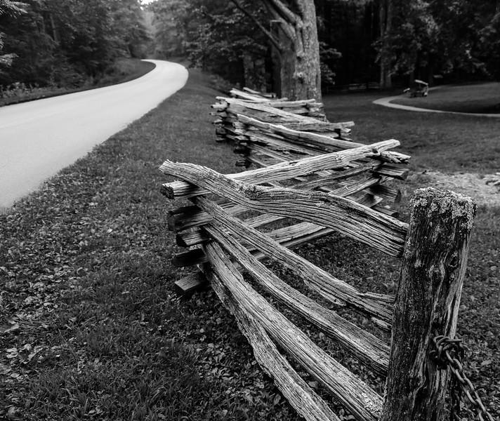 Blue Ridge Parkway - Mabry Mill  Fence-0173