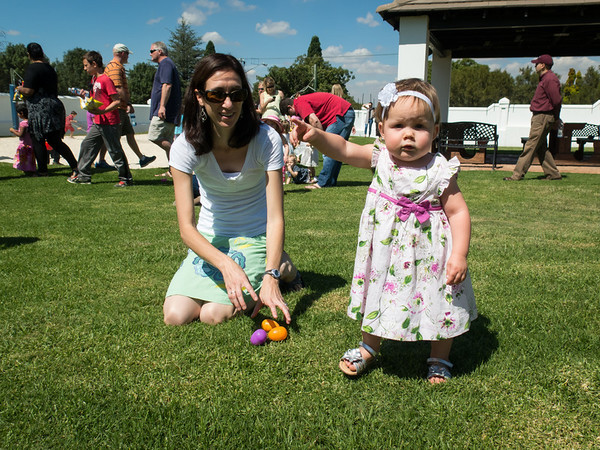Easter Egg hunt at the Community Center
