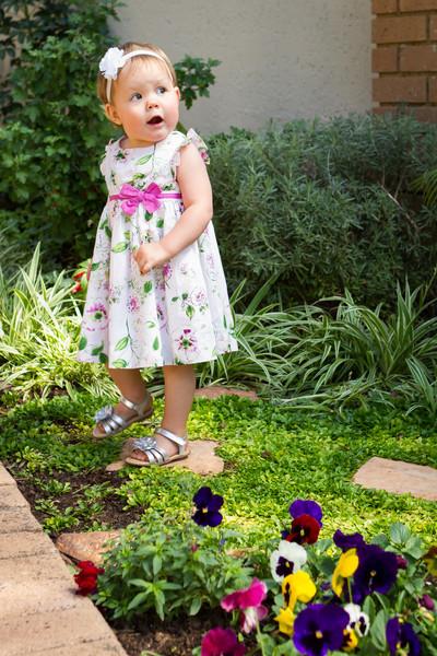 Cute girl in a cute dress!