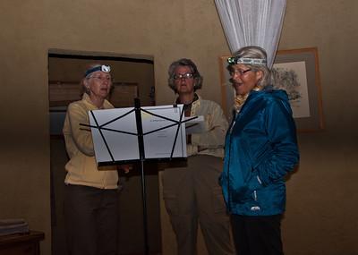 Night time singing practice