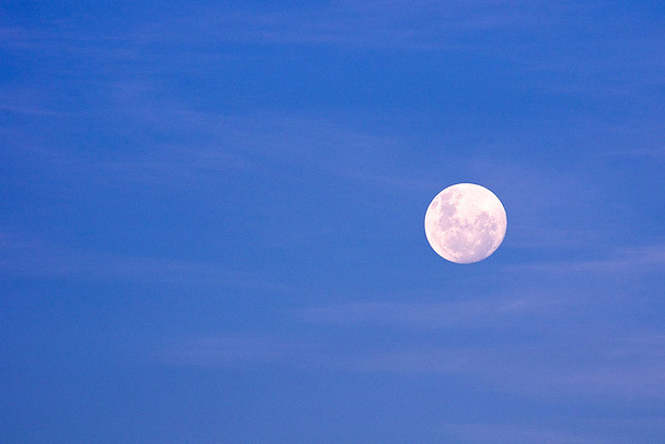 Full Moon Rise in February (3 Photographs)