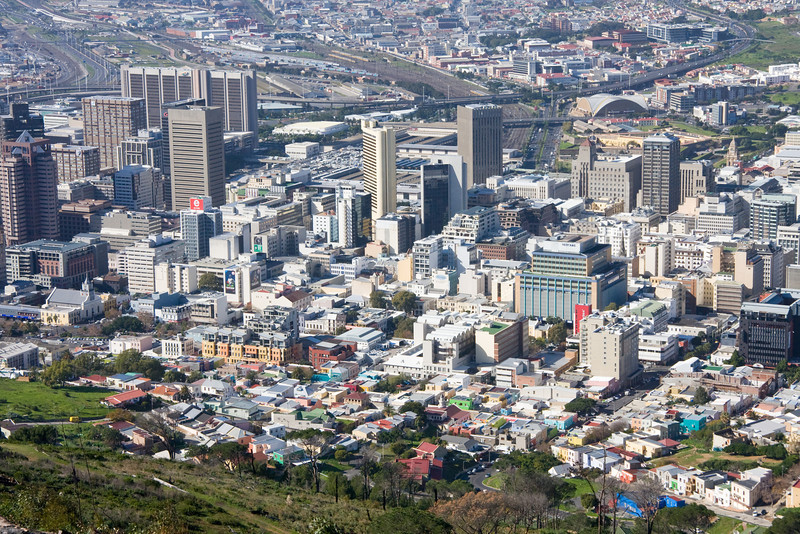 View from Signal Hill of Bo-Kaap and Central Business District (CBD)