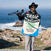 Hermanus - the Whale Crier.  He had spotted some whales earlier in the morning but we were too late.