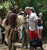 Wayne challenges the Zulu greeter to remember his name