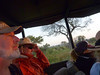 Safari drives are early and late in the day.  This is dawn and it's cold. We are grateful that the drivers/guides provide (clean) blankets.<br /> Left to right: Peter, Andre, Gail, Eva