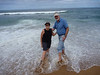 Susie and Peter in the Indian Ocean, near Durban, South Africa.