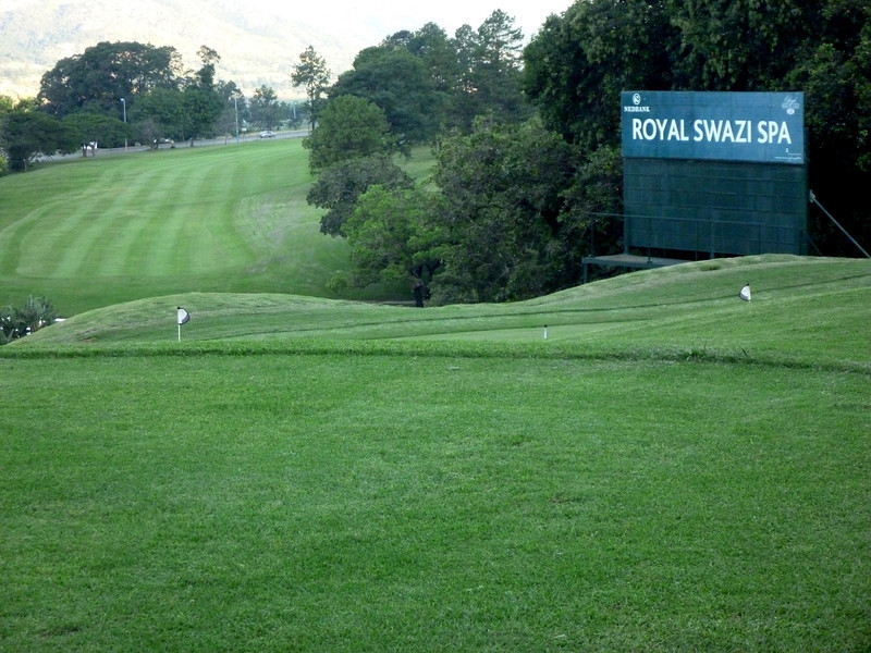 Peter was impressed with the rolling hills of the Royal Swazi Golf Club.