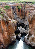 Magnificent sculptures made by erosion of water and sand. Bourke's Luck Potholes in Mpumalanga.  Part of the Blyde River Canyon.  Prospector Tom Bourke never did find the gold he was seeking here.