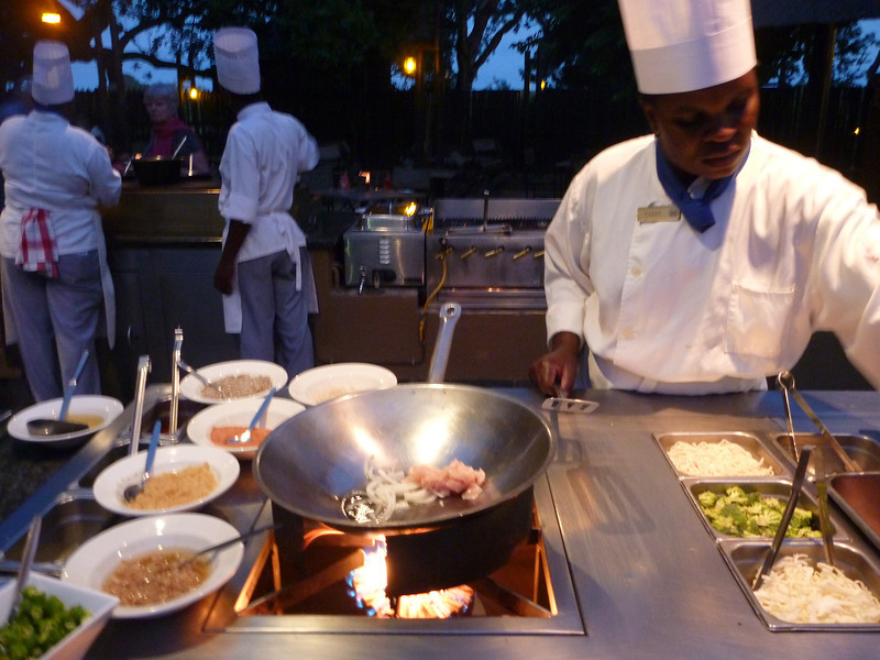 The stir fry station at Protea Kruger Gate looks delicious.