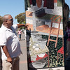 A mosaic in Khayelitsha which honors those who came before.  This side depicts the dormitories where men had to sleep so they could work in the city nearby. Under apartheid,  men without jobs and no women or children were allowed passes to come live near the whites-only cities.  This separated the men from their families.