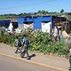 Children walk home from school.  Swaziland.