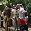 A Zulu greeter introduces himself to us individually.  We are to tell him our names.