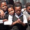 Schoolgirls posing in Khayelitsha.