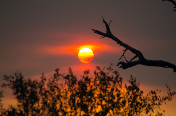 A Visit to Hoedspruit and a Fiery Sunset (2 Photographs)