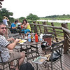 Lunch at Lower Sabie watching Hippos, Giraffe, Buffalo and Crocs