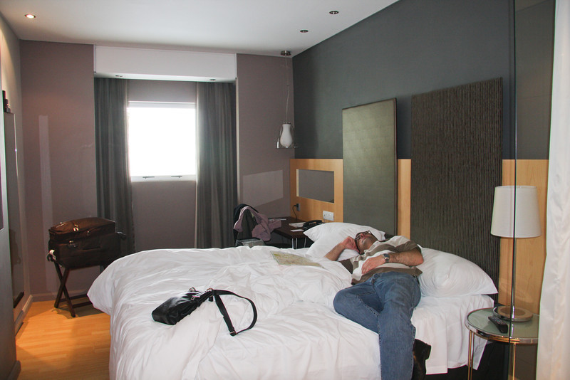 Protea Hotel - in the morning, Yup, he's ready to tackle the drive to Kruger...