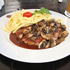 Hunk O'Meat with Mushrooms and Spaetzle