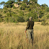 Our guide looking for Rhino