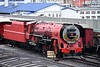 Transnet No 3450 Red Devil, Cape Town docks, 14 September 2018 1.  Built in 1953 by Henschel as a class 25NC (Non- Condensing) 4-8-4.  It was extensively modified by South African Railways' David Wardale in about 1980 to become the only member of SAR's class 26.  The loo was withdrawn in 2003.  It returned to steam in 2018 to work excusions for the Ceres Rail Company.