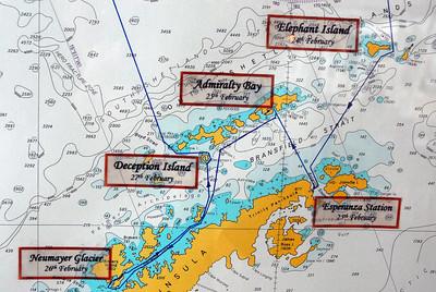 Star Princess Antarctica chart