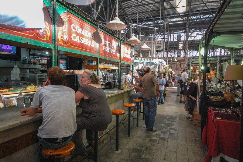 Cafe inside the Mercado San Telmo.