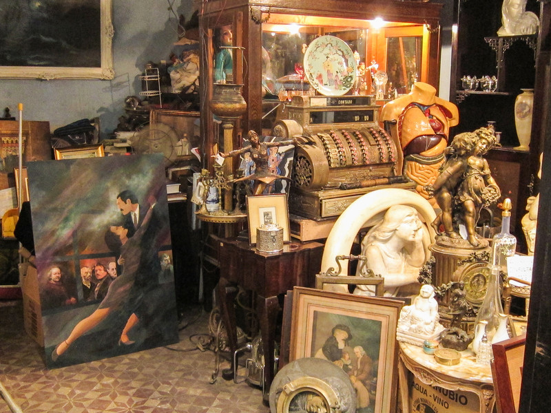 The permanent market in San Telmo has many antique shops.