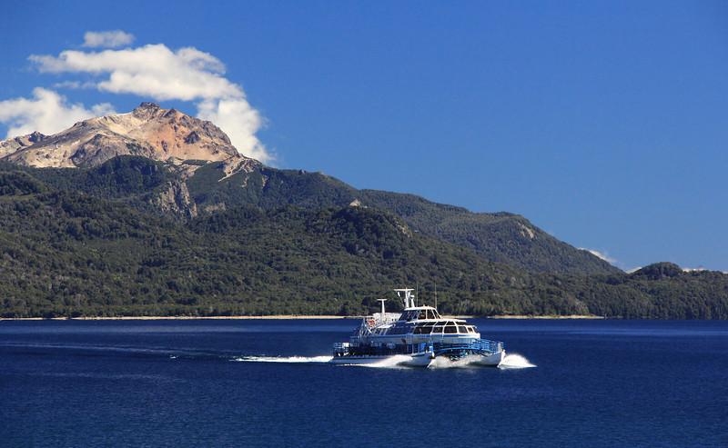 Catamaran Approaching Puerto Pañuelo