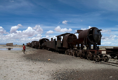 Train Cemetery Uyuni Bolivia, South America