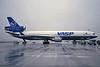 """PP-SPM Douglas MD-11 """"VASP"""" c/n 48563 Brussels/EBBR/BRU 06-12-96 (35mm slide)"""