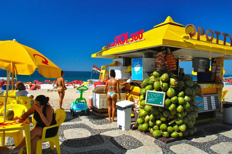 DSC_0167<br /> Beach restaurant, Ipanema.