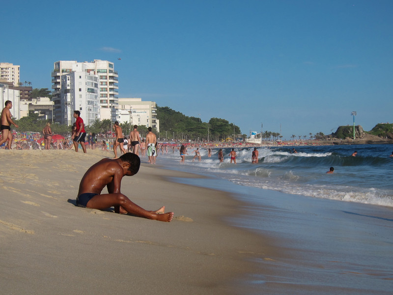 IMG_0036<br /> Boy playing on Ipanema Beach.