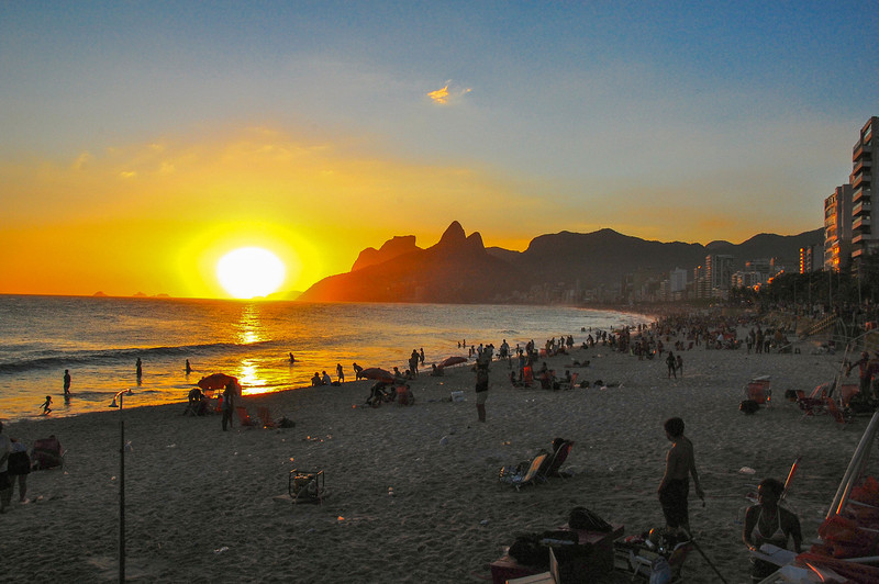 DSC_0305<br /> Ipanema at sunset.