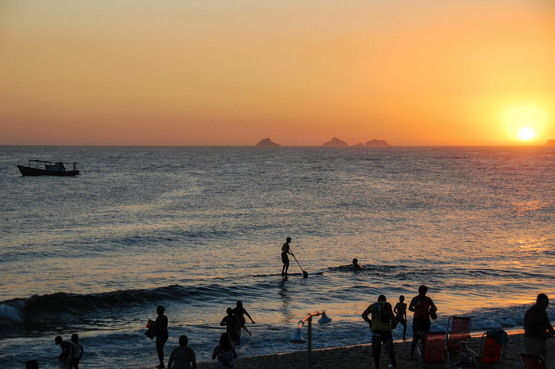 DSC_0323<br /> Ipanema at sunset.