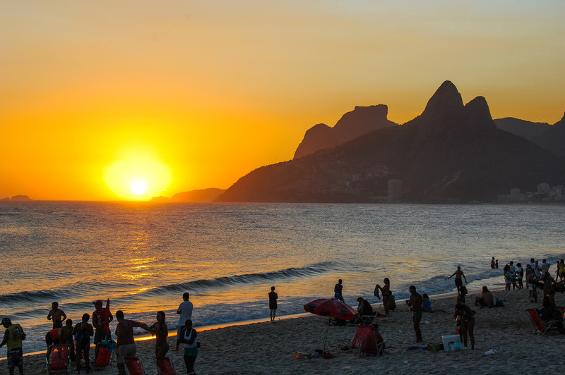 DSC_0319<br /> Ipanema at sunset.